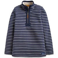 Joules Boys Winterdale Half Zip Sweatshirt, Navy, Size 3 Years