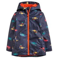Joules Toddler Boys Skipper Waterproof Rubber Coat, Navy, Size Age: 2 Years