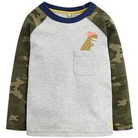 Joules Toddler Boys Winston Raglan Sleeve T-shirt, Camo, Size 5 Years