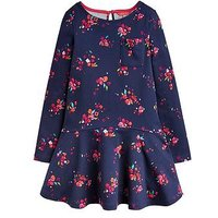 Joules Girls Lila Printed Swing Dress, Navy, Size 7-8 Years, Women