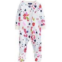 Joules Baby Girls Razamataz Floral Stripe Print Babygrow, Multi, Size 9-12 Months