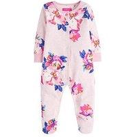 Joules Baby Girls Razamataz Floral Print Babygrow, Pink, Size 6-9 Months