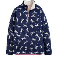 Joules Girls Fairdale Luxe Half Zip Sweatshirt, Navy, Size Age: 4 Years, Women