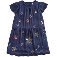 Joules Girls Emma Luxe Sequin Party Dress, Navy, Size 6 Years, Women