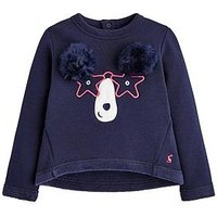 Joules Toddler Girls Mart Bear Pom Pom Sweat, Navy, Size Age: 5 Years, Women