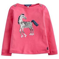 Joules Toddler Girls Esme Horse Sequin T-shirt, Pink, Size Age: 6 Years, Women