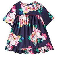 Joules Adaline Peplum Frill Dress -Navy, Navy, Size 5 Years, Women