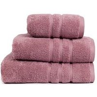 Product photograph showing Super Soft 600 Gsm Zero Twist Towel Range Ndash Mauve - Bath Towel