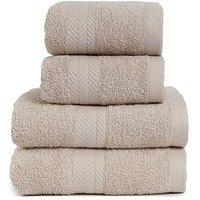 Product photograph showing Essentials Collection 4-piece 100 Cotton 450 Gsm Quick Dry Towel Bale Ndash Pebble