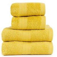 Product photograph showing Essentials Collection 4-piece 100 Cotton 450 Gsm Quick Dry Towel Bale Ndash Saffron