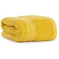 Product photograph showing Essentials Collection 100 Cotton 450 Gsm Quick Dry Jumbo Bath Sheet Ndash Saffron