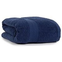 Product photograph showing Essentials Collection 100 Cotton 450 Gsm Quick Dry Jumbo Bath Sheet - Navy