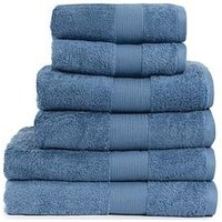 Product photograph showing Everyday Collection Egyptian Cotton 650gsm Towel Range Ndash Cornflower Blue - 2 Hand Towel