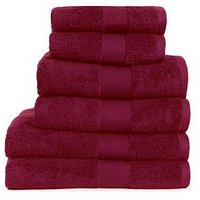 Product photograph showing Everyday Collection Egyptian Cotton 650gsm Towel Range Ndash Claret - 2 Bath Towels