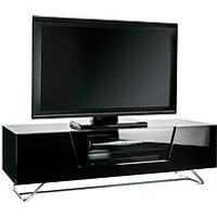 Alphason Chromium 120 Cm Tv Unit - Black - Fits Up To 60 Inch Tv
