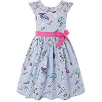 Monsoon Sparkle Space Dress, Blue, Size 3 Years, Women