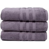 Product photograph showing Hotel Collection Luxury Ultra Loft Pima Cotton 800 Gsm Towel Range Ndash Magnesium - Bath Sheet