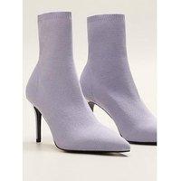 Mango Sock Boot, Lilac, Size 6, Women