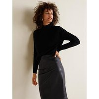 Mango Pu Pencil Skirt - Black
