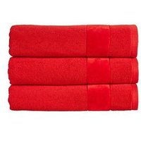 Product photograph showing Christy Prism Turkish Cotton Towel Collection Ndash Fire Engine Red - Hand Towel