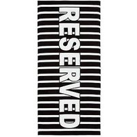 Product photograph showing Catherine Lansfield Reserved Beach Towel