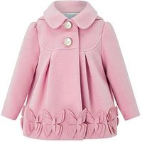 Monsoon Baby Bea Butterfly Coat, Pink, Size 3-6 Months