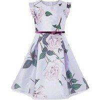 Monsoon Glitter Rose Dress, Multi, Size 9 Years, Women