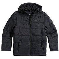 Animal Boys Penguin Padded Jacket, Black, Size Age: 11-12 Years