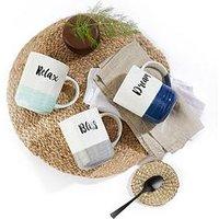 Product photograph showing Waterside Dipped Glaze Slogan Mugs Ndash Set Of 6