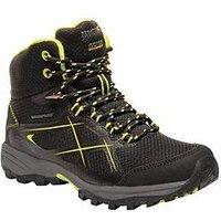 Regatta Kota Mid Junior Walking Boot - Black , Black, Size 4