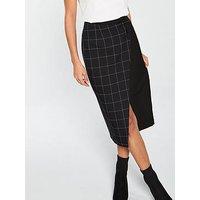 V By Very Wrap Pencil Skirt - Monochrome