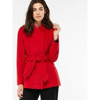 Monsoon Rose Belted Coat - Red, Red, Size 8, Women
