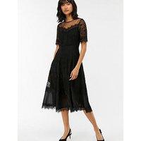 Monsoon Clarissa Lace Dress - Black