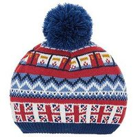 Monsoon Boys Sights Bobble Hat, Multi, Size 6-10 Years