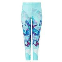 Monsoon Fenisia Placement Legging, Aqua, Size Age: 11-12 Years, Women