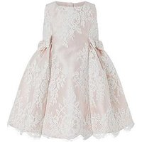 Monsoon Baby Valeria Lace Dress, Pink, Size 18-24 Months