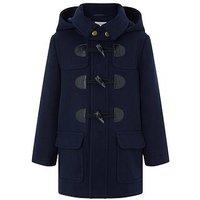 Boys, Monsoon Danny Duffle Coat, Navy, Size Age: 3-4 Years