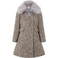 Monsoon Lavender Tweed Coat, Lilac, Size 9-10 Years, Women