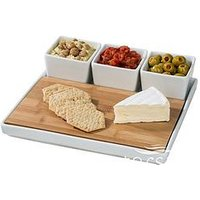 Product photograph showing Waterside 5-piece Cheese Platter Set