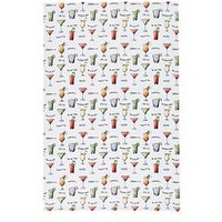KitchenCraft Cocktail Menu' 100% Cotton Tea Towels 70cm x 47cm, Set of 2, One Colour, Men
