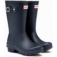 Hunter Original Kids Wellington Boots - Navy, Navy, Size 12 Younger