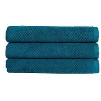 Christy Brixton Luxury Textured 100% Cotton Towel Collection &Ndash; Peacock - Hand Towel