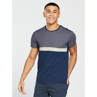 V by Very Textured Block Tee, Navy, Size Xs, Men