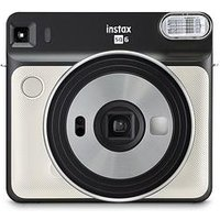 Fujifilm Fujifilm Instax Square Sq6 Instant Camera Pearl White + 10 Shots - Instant Camera With 30 Pack Of Paper