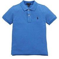 Ralph Lauren Boys Classic Short Sleeve Polo Shirt - Blue, Blue, Size 8 Years=S