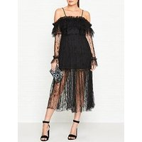 Alice Mccall Just The Way You Are Cold Shoulder Lace Dress - Black
