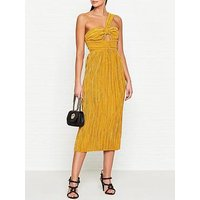Alice Mccall Power Lady Pleated Cut Out Dress - Yellow
