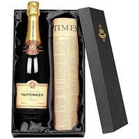 Tattinger Champagne and Newspaper in a Silk Lined Gift Box, One Colour, Women