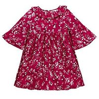 Mini V by Very Girls Floral Dress - Burgundy, Burgundy, Size 4-5 Years, Women