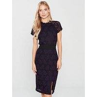 Phase Eight Henrietta Lace Dress - Black/Deadly Nightshade, Deadly Nightshade/Black, Size 10, Women